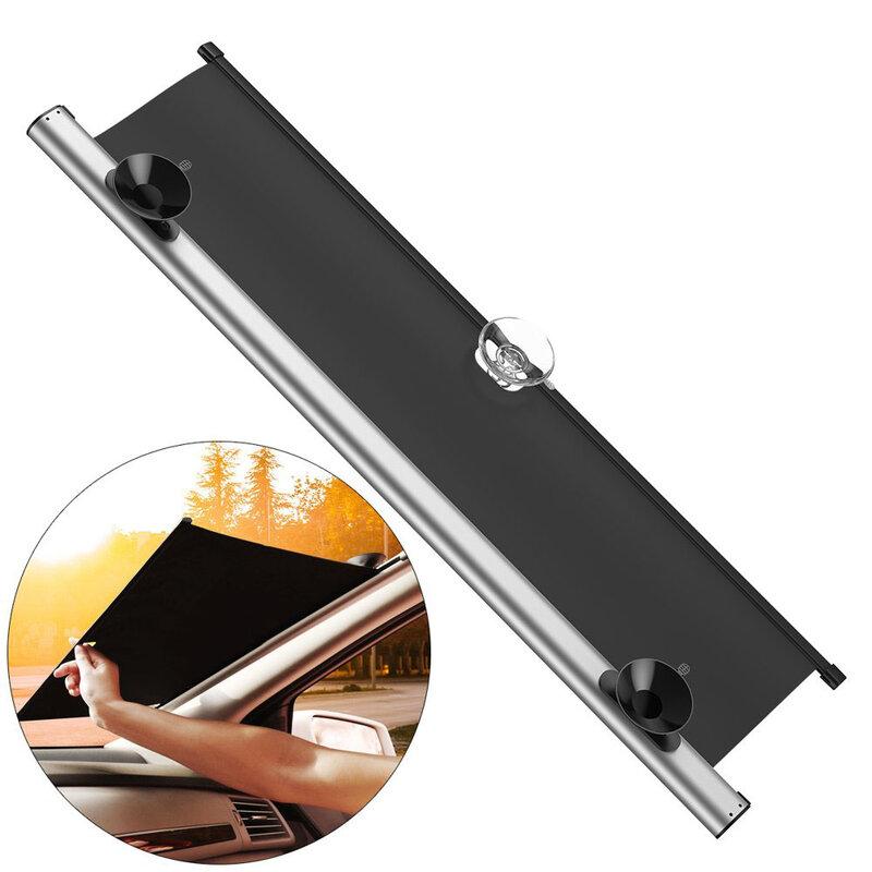 Parasolar Auto Pentru Parbriz Baseus Sunshade Universal Retractabil Cu Ventuze 65 x 140 cm - CRZYD-B0S - Argintiu