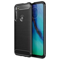 Husa Motorola One Fusion Plus TPU Carbon - Negru