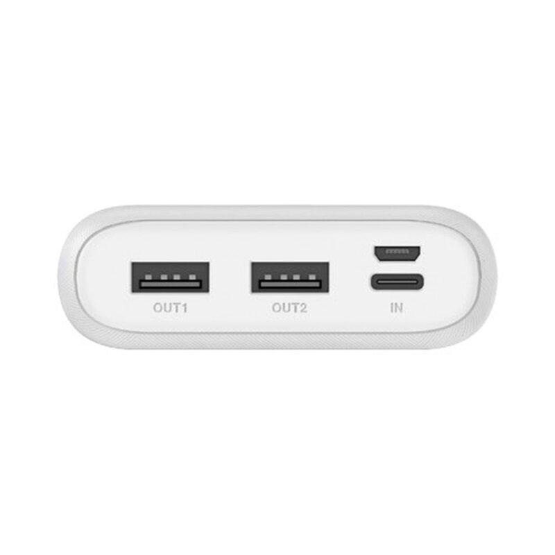 Baterie Externa Dudao K9Pro Cu Capacitate De 15000mAh 2x USB / Micro-USB / Type-C Si Display LED 2A - Alb