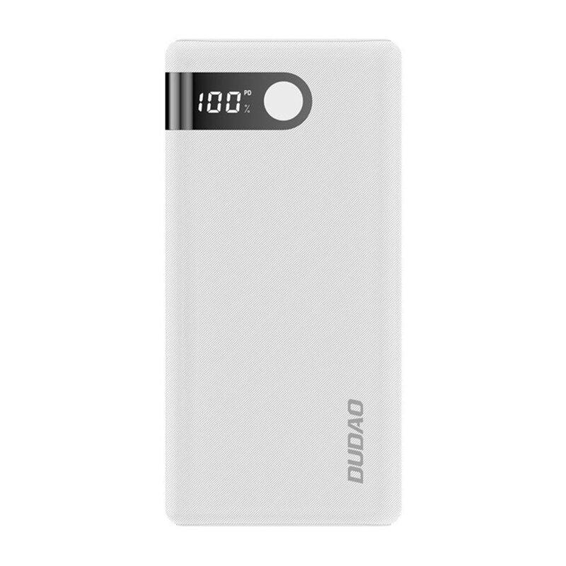 Baterie Externa Dudao K9Pro Cu Capacitate De 20000mAh 2x USB / Micro-USB / Type-C Si Display LED 2A - Alb