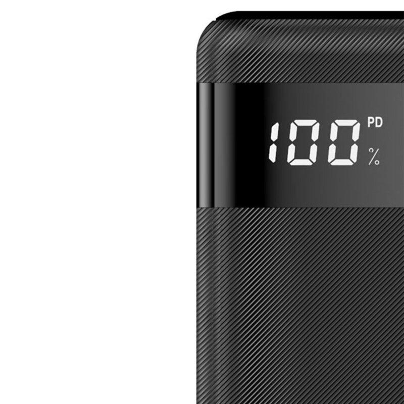 Baterie Externa Dudao K9Pro Cu Capacitate De 20000mAh 2x USB / Micro-USB / Type-C Si Display LED 2A - Negru