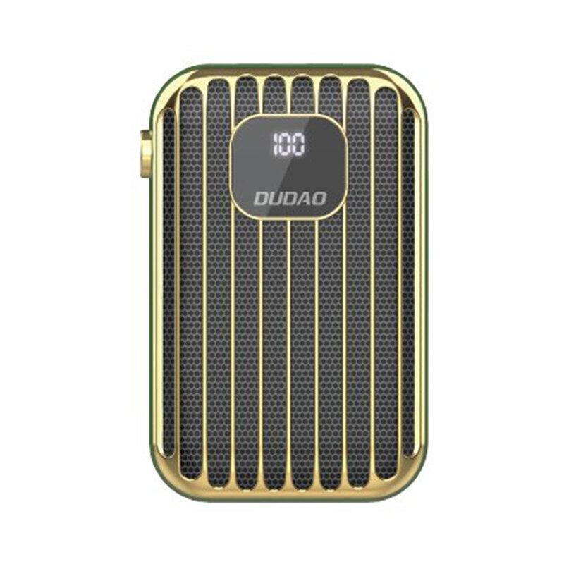 Baterie Externa Dudao K11Pro Cu Capacitate De 10000mAh 2x USB / Micro-USB / Type-C Si Display LED 2A - Verde