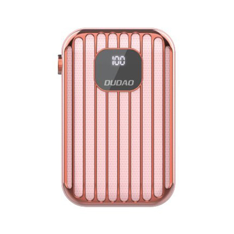 Baterie Externa Dudao K11Pro Cu Capacitate De 10000mAh 2x USB / Micro-USB / Type-C Si Display LED 2A - Roz