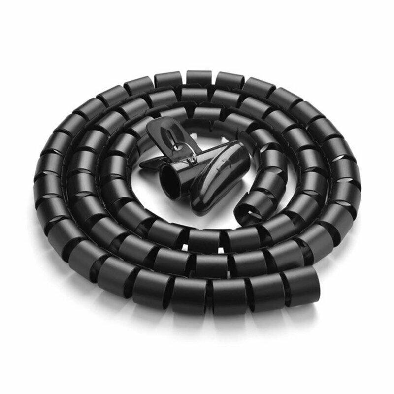 Organizator cabluri spiralat Ugreen, protectie birou, 3mx25mm, negru, 30819