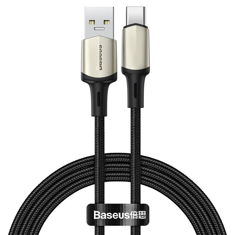 Cablu De Date Baseus Cafule USB La Type-C Cu Suport Pentru Incarcare Rapida VOOC 5A 1m - CATKLF-VA01 - Negru