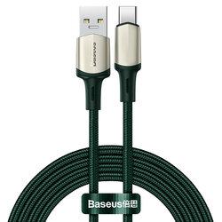 Cablu De Date Baseus Cafule USB La Type-C Cu Suport Pentru Incarcare Rapida VOOC 5A 2m - CATKLF-VB06 - Verde