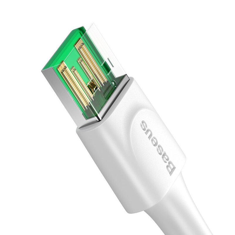 Cablu De Date Baseus De La USB La Type-C Si Suport Pentru Incarcare Rapida VOOC / TLC 5A 1m - CATSW-F02 - Alb