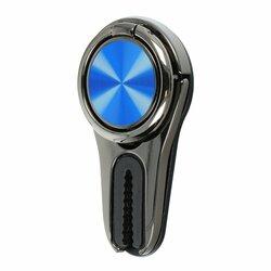 Suport Auto Pentru Telefon Stand Ring 360° Cu Adeziv Si Sistem De Prindere Pe Grila De Ventilatie - Albastru