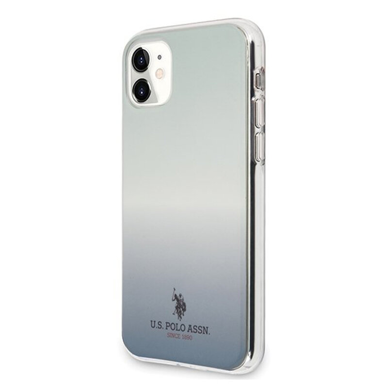 Husa iPhone 11 U.S. Polo Assn. Gradient Pattern Collection - Albastru