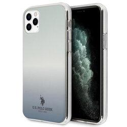 Husa iPhone 11 Pro Max U.S. Polo Assn. Gradient Pattern Collection - Albastru