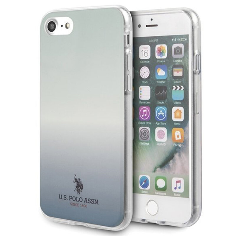 Husa iPhone 8 U.S. Polo Assn. Gradient Pattern Collection - Albastru
