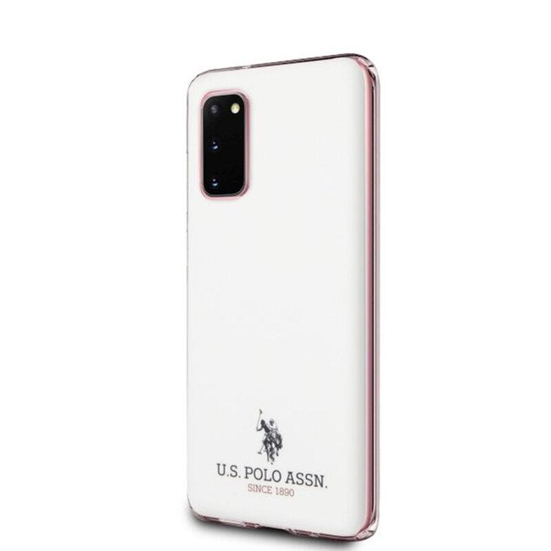 Husa Samsung Galaxy S20 5G U.S. Polo Assn. Shiny Collection - Alb