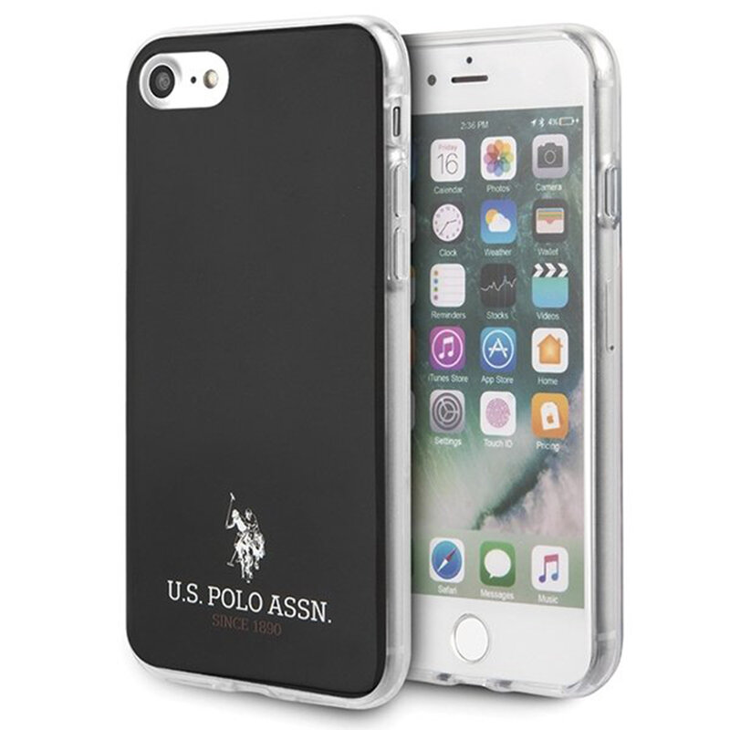 Husa iPhone 7 U.S. Polo Assn. Shiny Collection - Negru