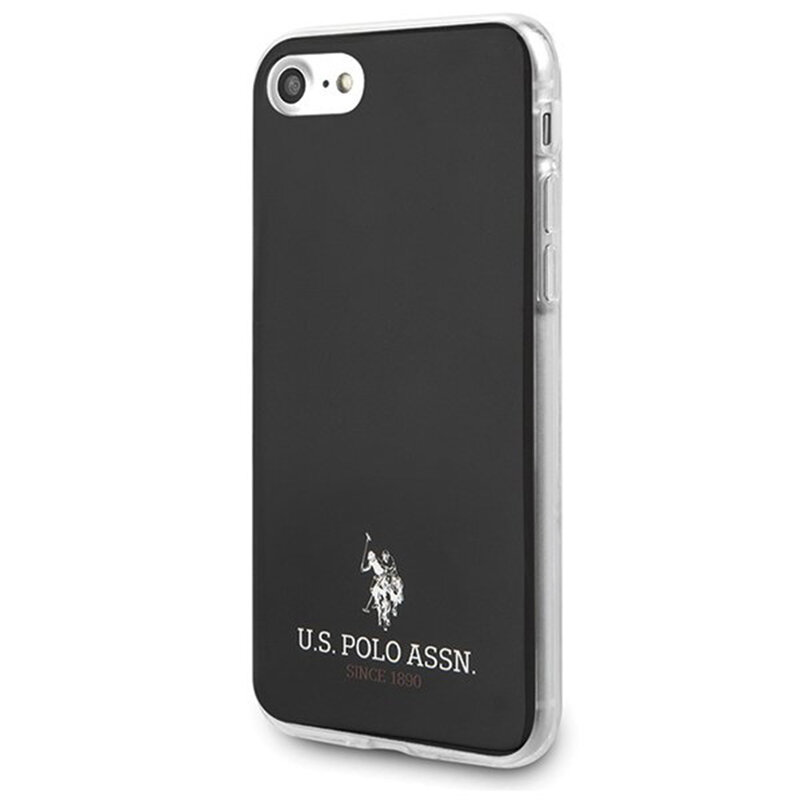 Husa iPhone 8 U.S. Polo Assn. Shiny Collection - Negru