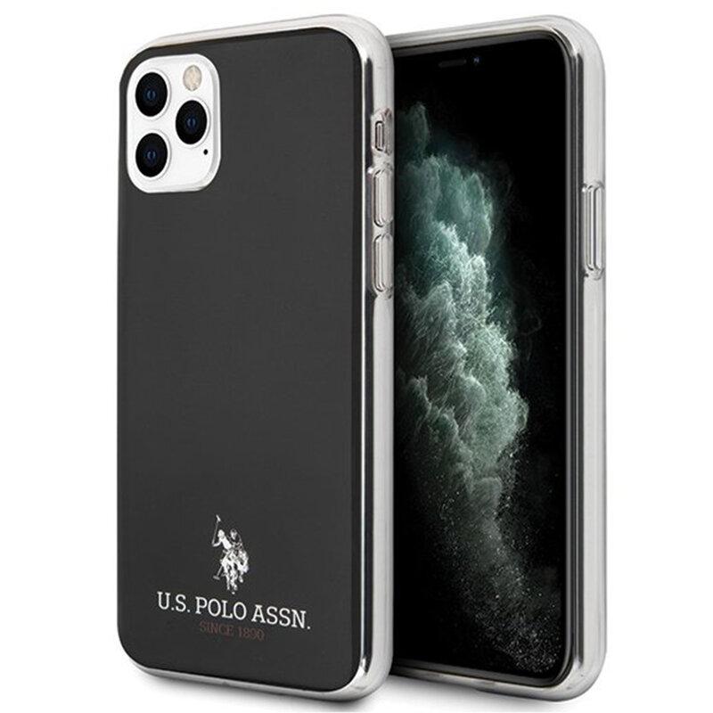 Husa iPhone 11 Pro Max U.S. Polo Assn. Shiny Collection - Negru