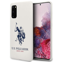Husa Samsung Galaxy S20 5G U.S. Polo Assn. Silicone Collection - Alb