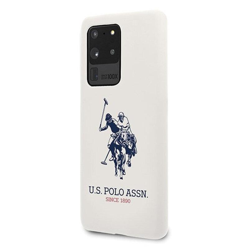 Husa Samsung Galaxy S20 Ultra 5G U.S. Polo Assn. Silicone Collection - Alb