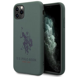 Husa iPhone 11 Pro Max U.S. Polo Assn. Silicone Collection - Verde Inchis
