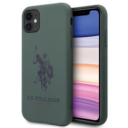 Husa iPhone 11 U.S. Polo Assn. Silicone Collection - Verde Inchis