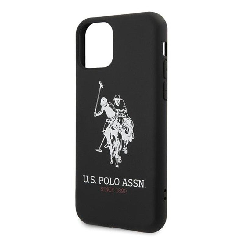 Husa iPhone 11 U.S. Polo Assn. Silicone Collection - Negru