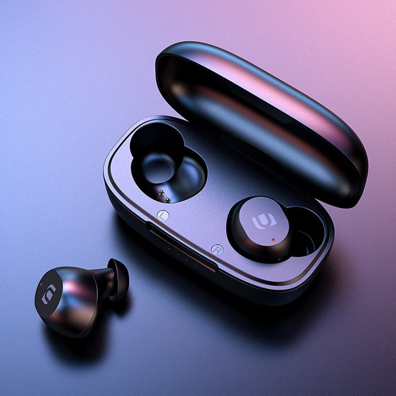 Casti In-Ear Ugreen TWS Earbuds WS102 Cu Bluetooth/Microfon + Cablu Incarcare Micro-USB - 80636 - Negru