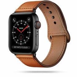 Curea Apple Watch 2 42mm Tech-Protect LeatherFit Din Piele Naturala - Maro