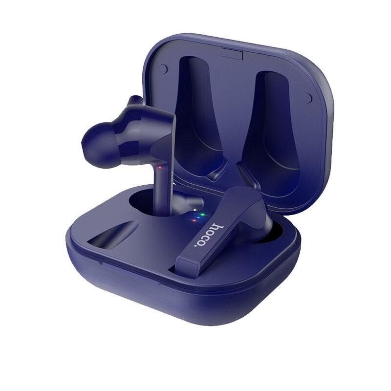 Casti In-Ear Hoco Pleasure ES34 True Wireless Headset Bluetooth Cu Microfon Si Statie De Incarcare - Albastru