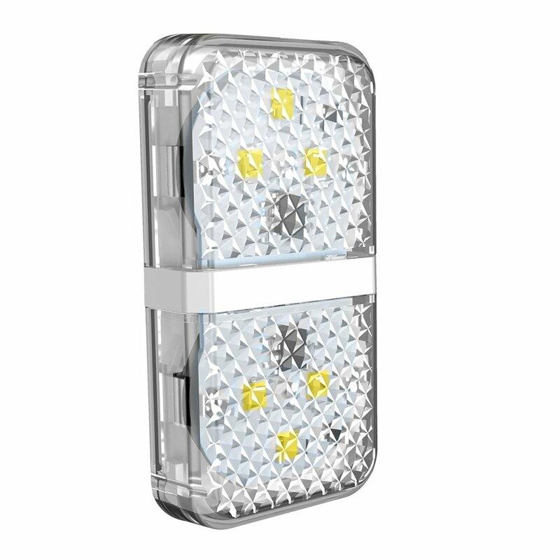 [Pachet 2x] Lampa Auto LED Avertizare Luminoasa Baseus Pentru Usa Deschisa Cu Baterii Incluse - CRFZD-02 - Alb