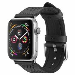 Curea Samsung Galaxy Watch Active 2 44mm Spigen Retro Fit Din Piele Ecologica Si Inchidere Cu Catarama - Negru