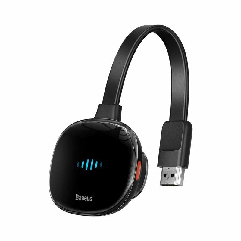 Cablu Video Convertor Baseus Adaptor De La HDMI La Wireless 4K + Cablu Incarcare Type-C - CATPQ-A01 - Negru