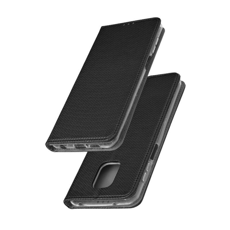 Husa Smart Book Xiaomi Redmi Note 9 Pro Flip - Negru
