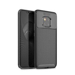 Husa Huawei Nova 5T Carbon Fiber Skin - Negru
