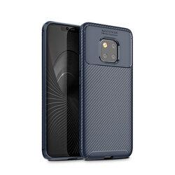 Husa Huawei P40 Lite 5G Carbon Fiber Skin - Albastru