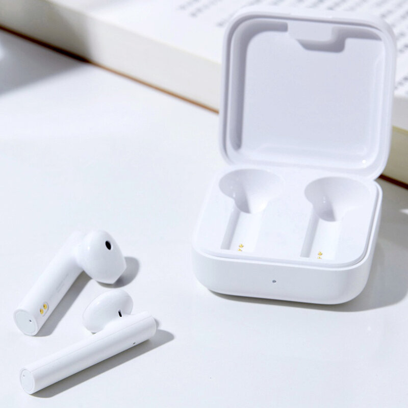 Casti In-Ear Originale Xiaomi Mi True Wireless Earphones 2 Basic Stereo Bluetooth 5.0 Cu Dock Incarcare - Alb