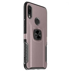 Husa Huawei P40 Lite 5G Hybrid Cu Inel Suport Stand Magnetic - Roz