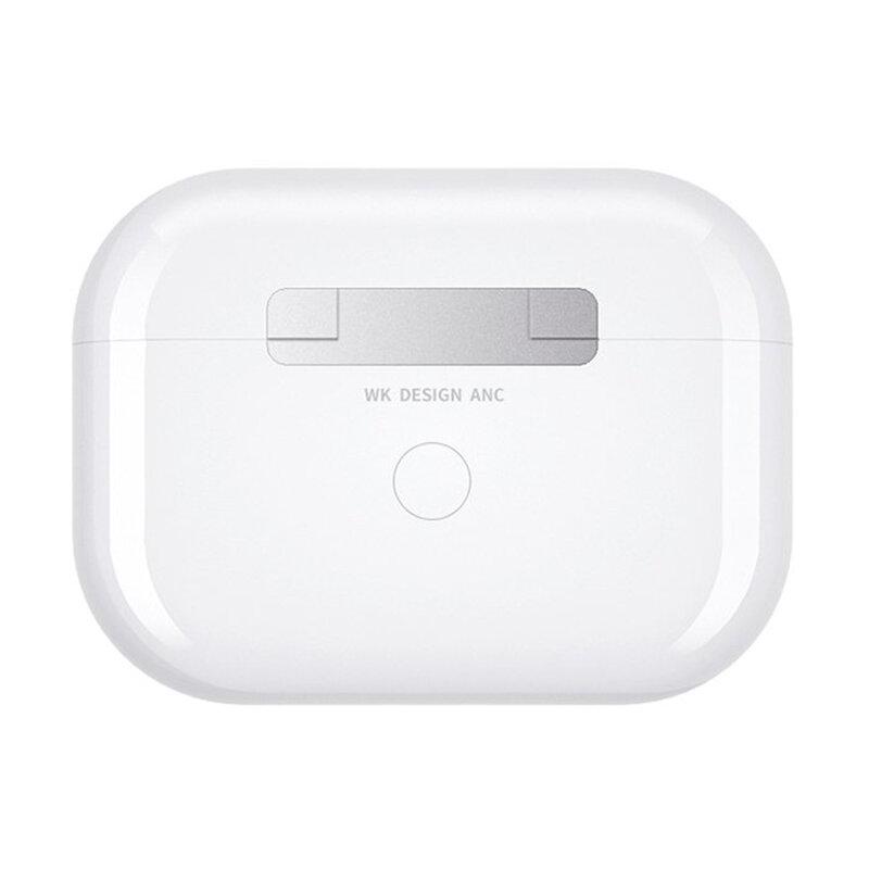 Casti In-Ear WK Design TWS Bluetooth True Wireless Cu Statie Incarcare - 61785 - Alb
