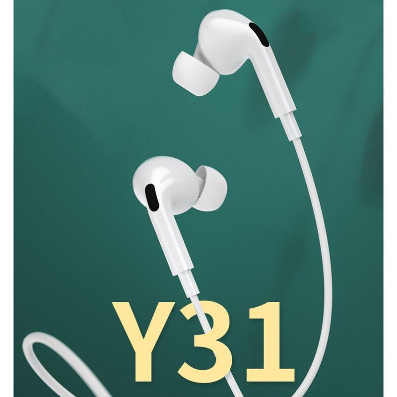 Casti In-Ear WK Design Y31 Cu Microfon Pe Fir Si Mufa Jack 3.5mm 1.2m - Alb