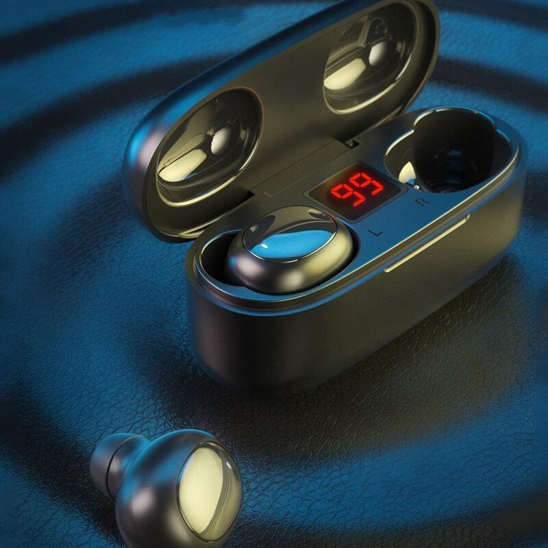 Casti In-Ear WK Design V5 TWS Earbuds Bluetooth 5.0 Hi-Fi Cu Statie De Incarcare - Negru