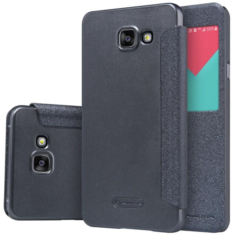Husa Samsung Galaxy A5 2016 A510 Nillkin Sparkle S-View Flip Gri
