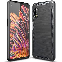 Husa Samsung Galaxy Xcover Pro Carbon Fiber Skin - Negru