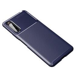 Husa Sony Xperia 10 II Carbon Fiber Skin - Albastru