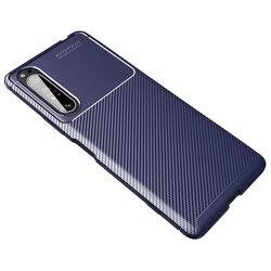 Husa Sony Xperia 1 II Carbon Fiber Skin - Albastru