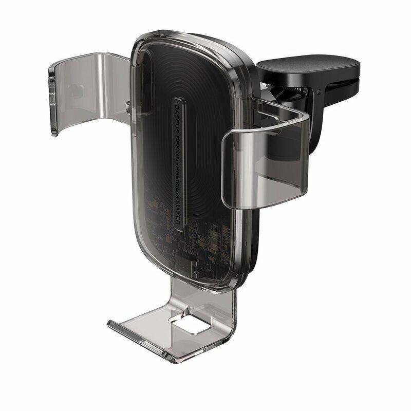 Suport Auto Telefon Baseus Gravity Cu Incarcare Wireless - WXYL-K01 - Negru