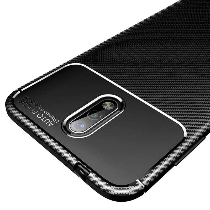 Husa Nokia 2.3 Carbon Fiber Skin - Negru