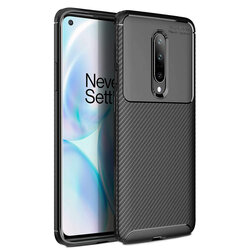 Husa OnePlus 8 Carbon Fiber Skin - Negru