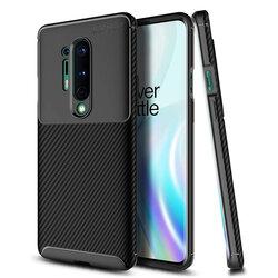 Husa OnePlus 8 Pro Carbon Fiber Skin - Negru