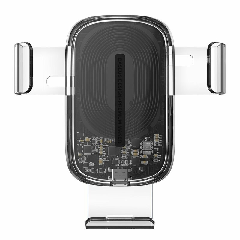 Suport Auto Telefon Baseus Gravity Cu Incarcare Wireless - WXYL-K02 - Transparent