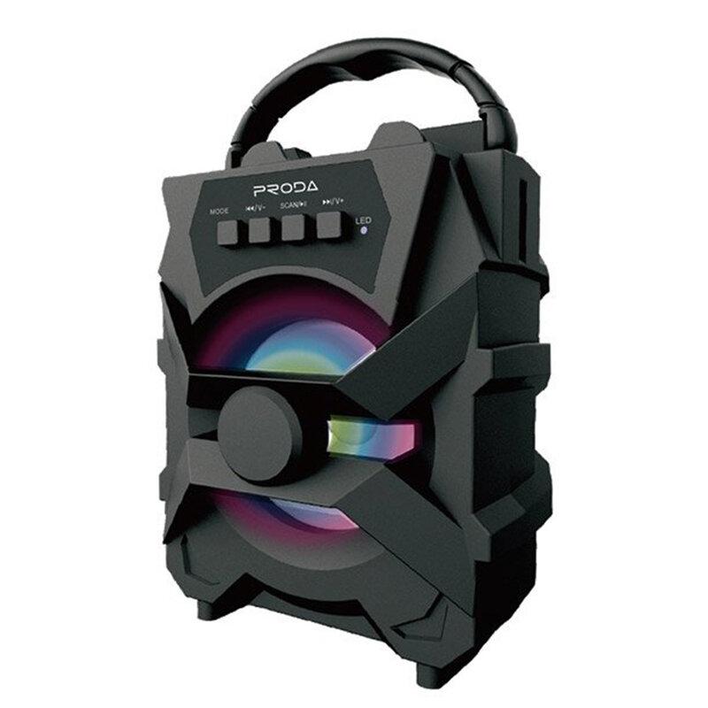 Boxa Portabila Proda S500 Wireless Bluetooth 5.0 Radio FM/Micro SD/AUX/USB - Negru