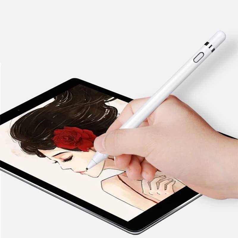 Stylus Pen Activ Superfine Nimb Smart Plus, 2in1, 140 mAh + Cablu incarcare - K811 - Alb