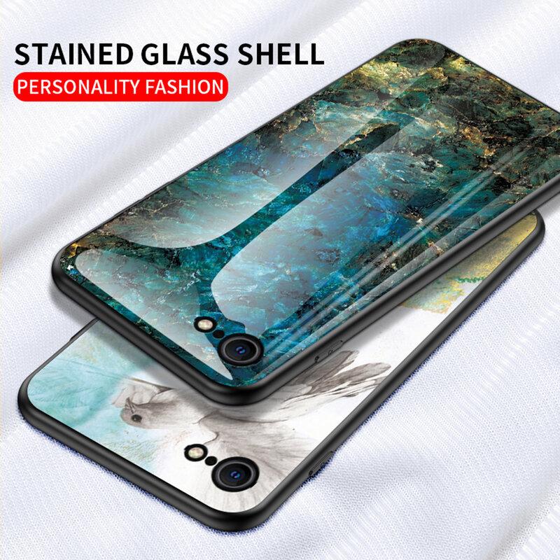 Husa iPhone 7 Color Glass Din Policarbonat Cu Acoperire Lucioasa - Model 1